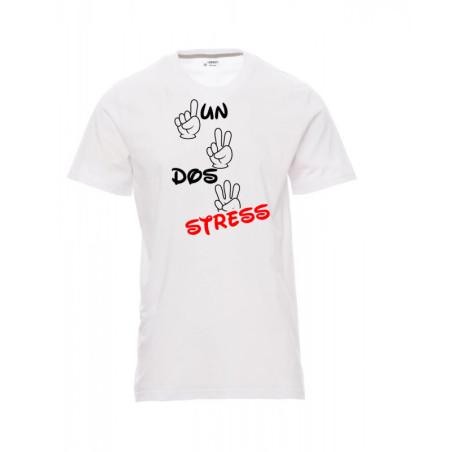 T-shirt un, dos, stress